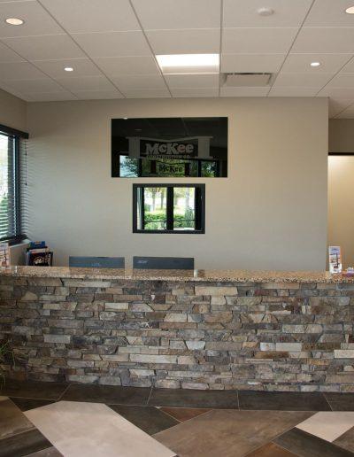 McKee Construction Reception Desk